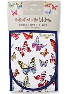 Insulated 100% Cotton Double Oven Gloves By Cooksmart (Butterfly)