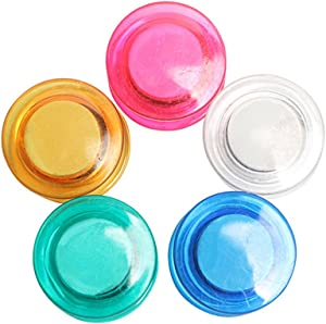 10Pcs Colorful Clear Refrigerator Magnets Round Fridge Magnets for Whiteboard, Refrigerator, Map and Calendar, 30MM
