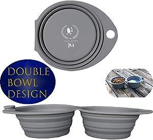 Imperio Moncada Collapsible Dog Bowl, Portable Dog Bowl
