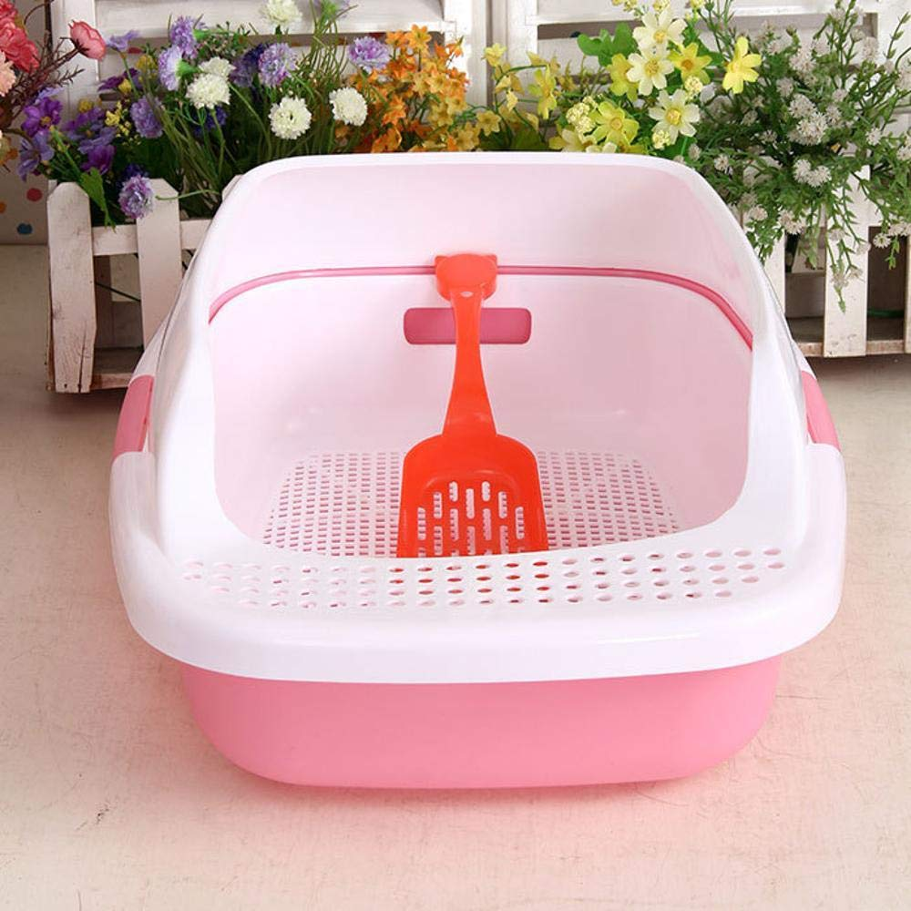 C Axiba Pet toilet Semi-closed cat litter basin cat toilet double raise cat poop pot anti-splash shovel
