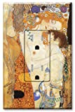 Printed - Tamper Resistant Electrical Outlet with matching Wall Plate - Klimt - Ages of Women