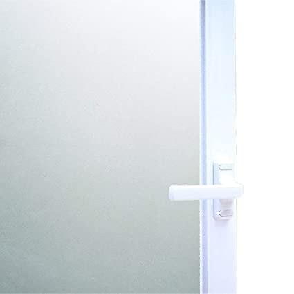 Bon Bloss Glass Frosted Paper Self Adhesive Window Film Shower Waterproof Window  Covering(17.7u0026quot;