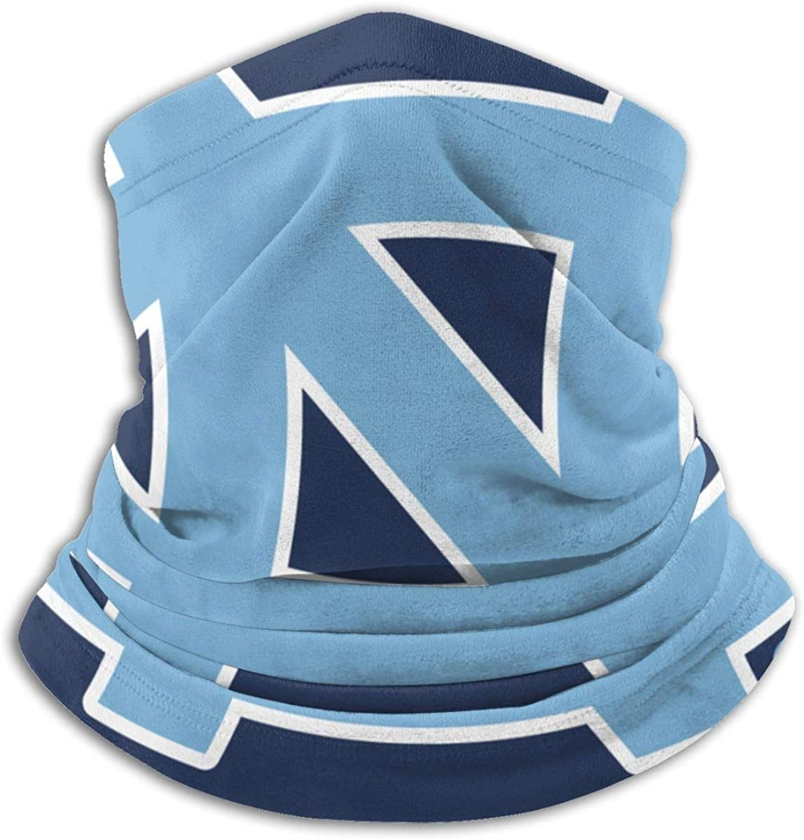 North Carolina Tar Heels Neck Gaiter Masks Thin Windproof Head Scarf Motorcycle face Nose Covers for Men Women