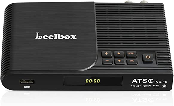 Leelbox Convertidor caja, 1080P ATSC sintonizador digital para TV analógica, soporta grabación de PVR, programas de