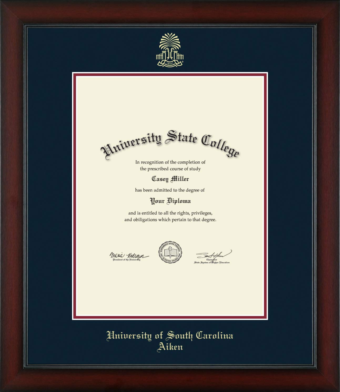 University of South Carolina Aiken - Officially Licensed - Gold Embossed Diploma Frame - Diploma Size 11'' x 14''