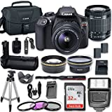 Canon EOS Rebel T6 DSLR Camera with Canon EF-S 18-55mm f/3.5-5.6 is II Lens + Filters, Aux Lense, Power Grip, Remote, Tulip, 32GB SD Memory Card + More Review