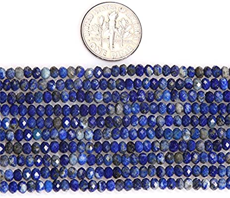 Blue Lapis Lazuli Beads for Jewelry Making Natural Gemstone Semi Precious AAA Grade Rondelle Spacer Faceted 2x3mm 15 JOE FOREMAN