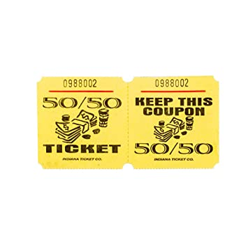 AmazonCom  Yellow  Raffle Tickets  Roll Of   Office