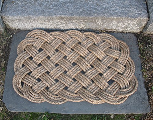 Nautical Manila Rope Door Mat 4 Pass Square by Mystic Knotwork