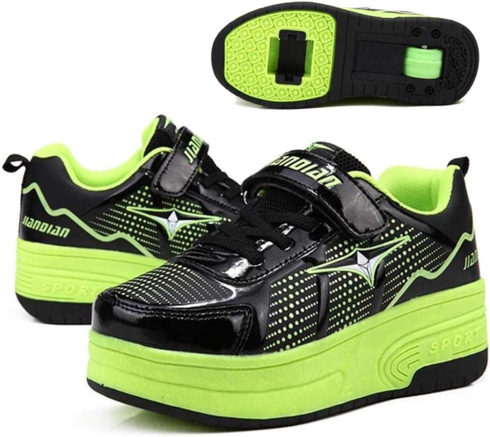 qmj Chaussures /à roulettes Gar/çons Et Filles Enfants Chaussures De Multisports Outdoor /à roulettes Chaussure De Course Sport Walking Shoes Running Comp/étition Entra/înement Chaussure