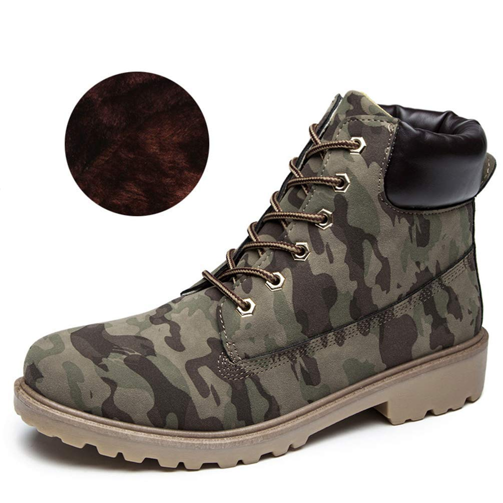 Frauen Flache Ferse Stiefel Herbst Winter Schuhe Schuhe Schuhe Mode Knöchelharte Laufsohle Schuhe (Farbe   Army Grün Winter, Größe   7=41 EU) 8aaf33
