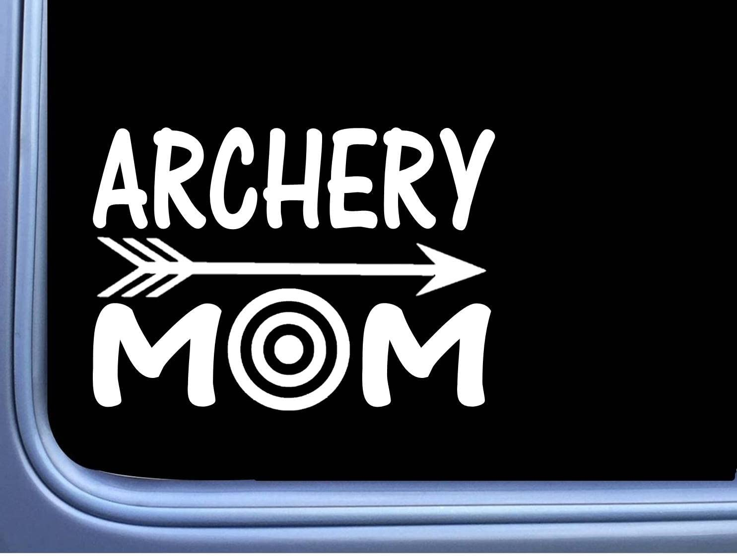 5/'/' or 6/'/' 3/'/' Girl Archery Car Bumper Sticker Decal