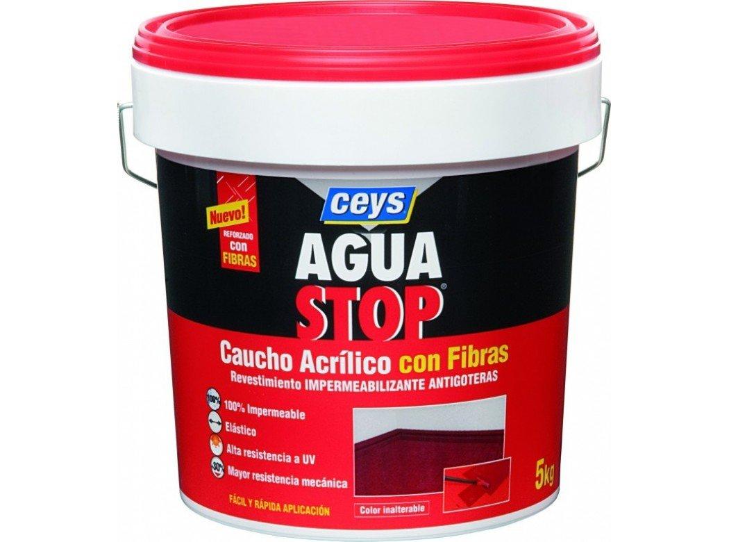 Aguastop ceys M122186 - Impermeabilizante aquastop caucho acrilico con fibras 5 kg rojo product image