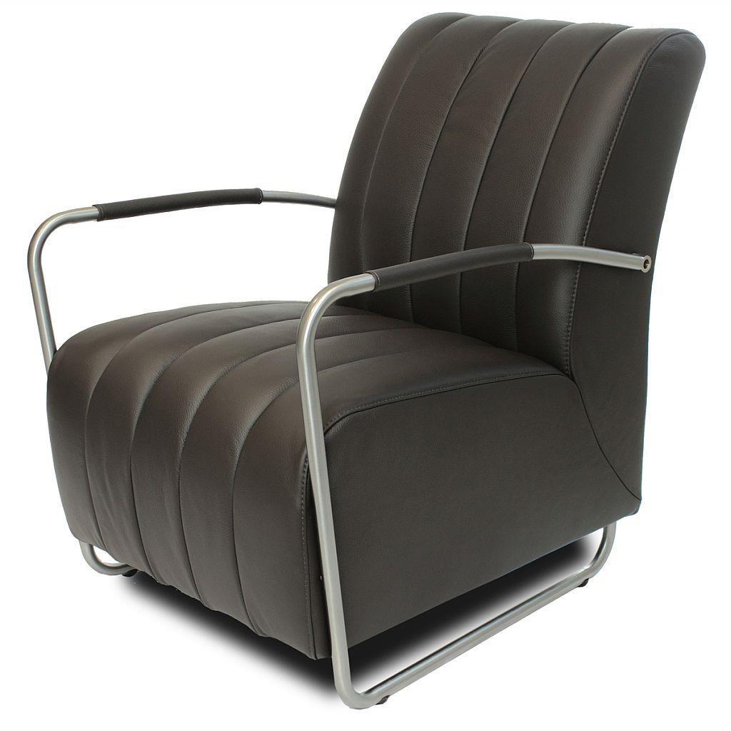 ledersessel cora leder braun design sessel retro sessel edelstahl geb rstet jetzt bestellen. Black Bedroom Furniture Sets. Home Design Ideas
