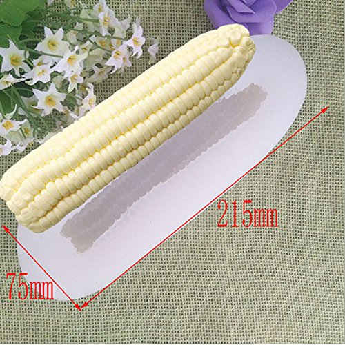 Youzpin 3D Corn Series Shape Silicone Mold,Chocolate,Pudding, Fondant,Mousse Cake Decoration Baking Mould,Handwork Soap,Candle,Clay DIY Making Tool,Random Color