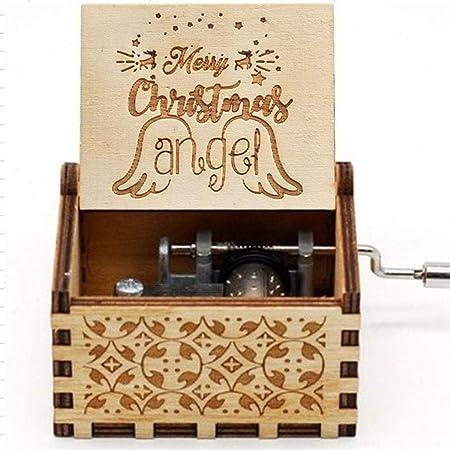 Sisaki - Caja de Madera para Regalo de cumpleaños, decoración del hogar, Cajas Musicales y Figuras, Tipo A, Medium: Amazon.es: Hogar