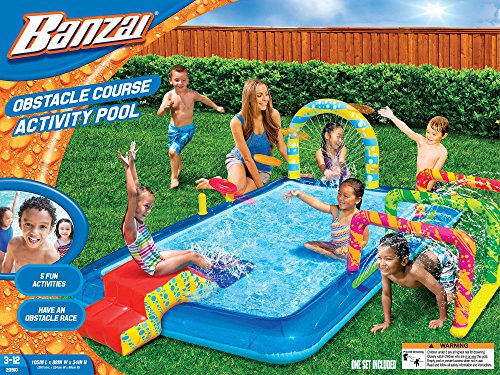 Banzai Obstacle Course Activity Pool (Inflatable Water Splas