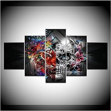 tableau peinture déco murale tête de mort 13
