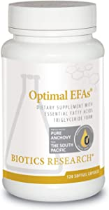 Biotics Research Optimal EFAs©- Proprietary Blend of Fish, Flaxseed and Borage Oils. Balance of Omega-3, 6 and 9 Fatty Acids.Supports Immune, Inflammatory Responses,Cardiovascular Neurological Health