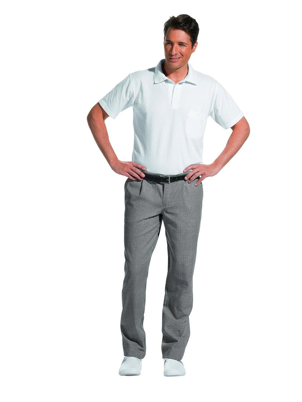 Leiber - Pantaloni da cuoco e panettiere, colore: nero/bianco 12/5730/25