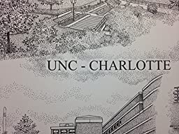 University of North Carolina at Charlotte 14''x18'' pen and ink collage print