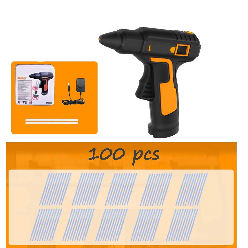FeiQiangQiang Wireless hot Glue Gun, Rechargeable Portable Glue Gun kit with Glue Stick, Copper Nozzle, Suitable for Quick Repair, Woodworking, Christmas Decorations Manual aid (Color : C) by FeiQiang