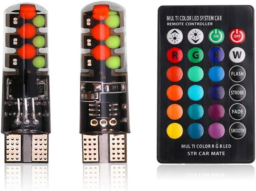 ZONJIE 12V COB RGB LED Luz de separaci/ón del autom/óvil Bombilla de lectura de c/úpula Auto Luz interior L/ámpara de atm/ósfera Coche para luz de separaci/ón luz de lectura luz de la puerta