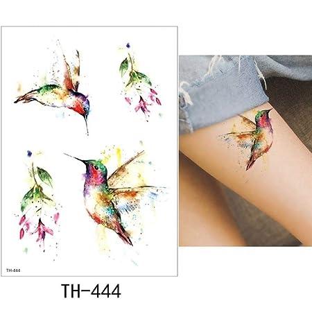 Modeganqing Pegatinas de Tatuaje de 5 Piezas Tatuaje Flores Flash ...
