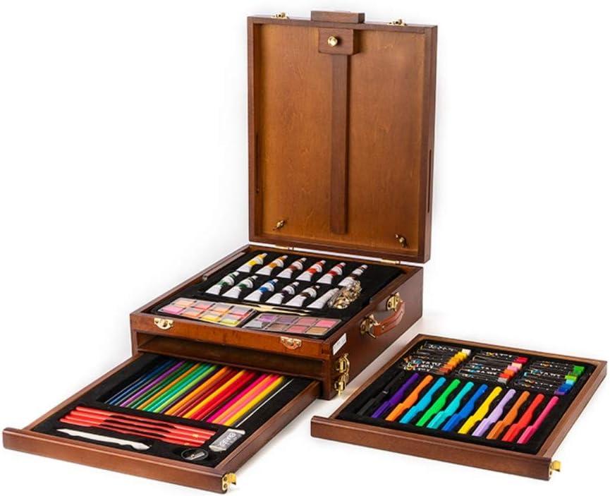 71pcs High-End Artists Box Sets Wooden Box Painting Tool Art Set for Students: Amazon.es: Hogar