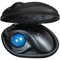 For Logitech M570 Wireless Trackball Mouse Travel EVA PU Hard Protective Case Carrying Pouch Cover Bag Compact Sizes by Hermitshell
