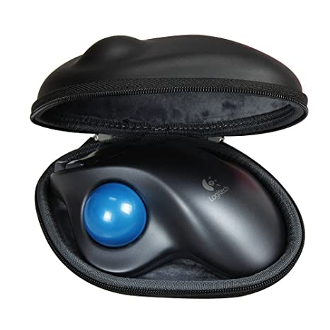 Hermitshell Logitech M570 Wireless Trackball Mouse Travel Eva Pu Hard Protective Case Carrying Pouch Cover Bag Compact Sizes <span at amazon