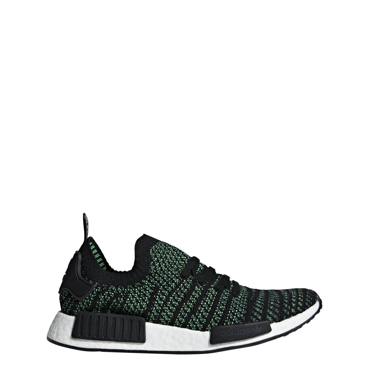 Black-Noble Green-Bold Green adidas Originals NMD_R1 Primeknit shoes Men's Casual