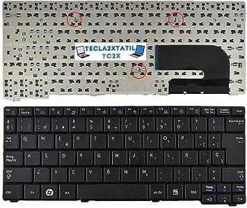 Teclado para Samsung NP N150 N158 NB20 NB30 Sec S/N:CNBA590 EN ESPAÑOL Negro