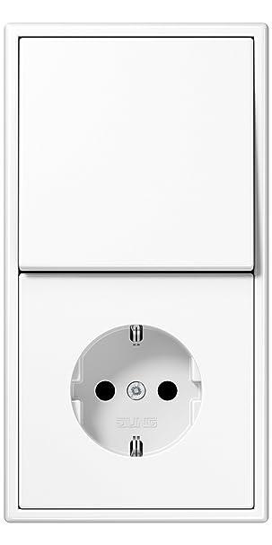 JUNG LS 990 in Alpinweiß (1x Steckdose, 1x Wechselschalter, 1x ...