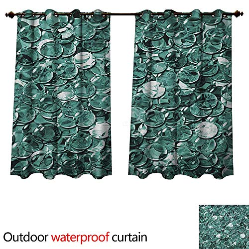- Anshesix Pearls Outdoor Ultraviolet Protective Curtains Crystal Clear Balls Coins Pattern Never Ending Liquid Objects Monochrome Design Print W63 x L63(160cm x 160cm)