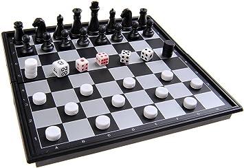 Quantum Abacus Juego de Mesa magnético (versión Mini de Viaje): Ajedrez, Backgammon - Piezas magnéticas, Tablero Plegable, 15x15x1.5cm, Mod. SC53810 (DE): Amazon.es: Juguetes y juegos