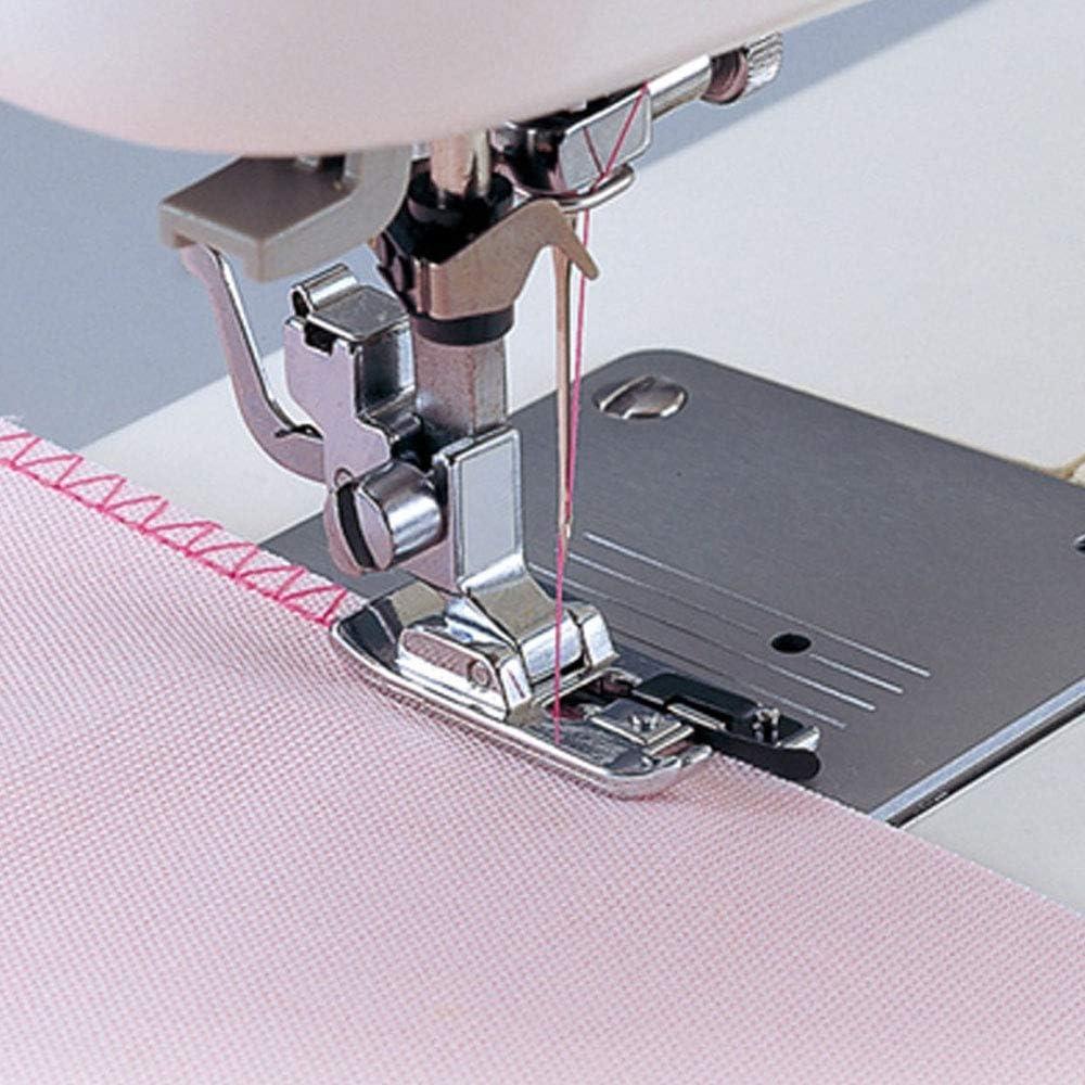 hearsbeauty Overlock Overedge Overcasting Foot Home Macchina da Cucire Pressore Strumento Orlo Arrotolato Accessori in Metallo Argento 1.57x 0.51 X 0.24