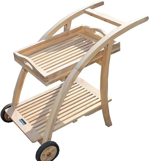 Muebles de jardín SSV1 camarera de madera de teca: Amazon.es: Hogar