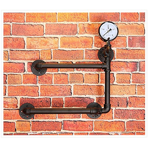 Fashion Home ZHILIAN Wine Rack - Vintage - Wall Mount - Black - Display Stand with Hydrostatic Table
