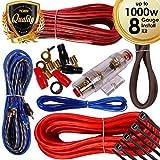 1000 watt amp install kit - Complete 1000W Gravity 8 Gauge Amplifier Installation Wiring Kit Amp PK1 8 Ga Red - For Installer and DIY Hobbyist - Perfect for Car/Truck/Motorcycle/RV/ATV