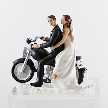 Il Villaggio degli Sposi Decoración para Cakes Novios en moto