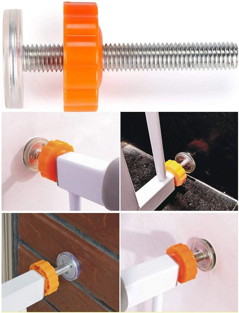 3 inch Orange GTIWUNG 4 Pack Pressure Baby Gates Threaded Spindle Rods M10 Walk Thru Gates Accessory Screw Bolts Kit Fitting for Pressure Mounted Baby Safety Gates//Pet Safety Gates//Stair Gates