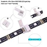 10Packs 4-Pin RGB LED Light Strip Connectors 10mm