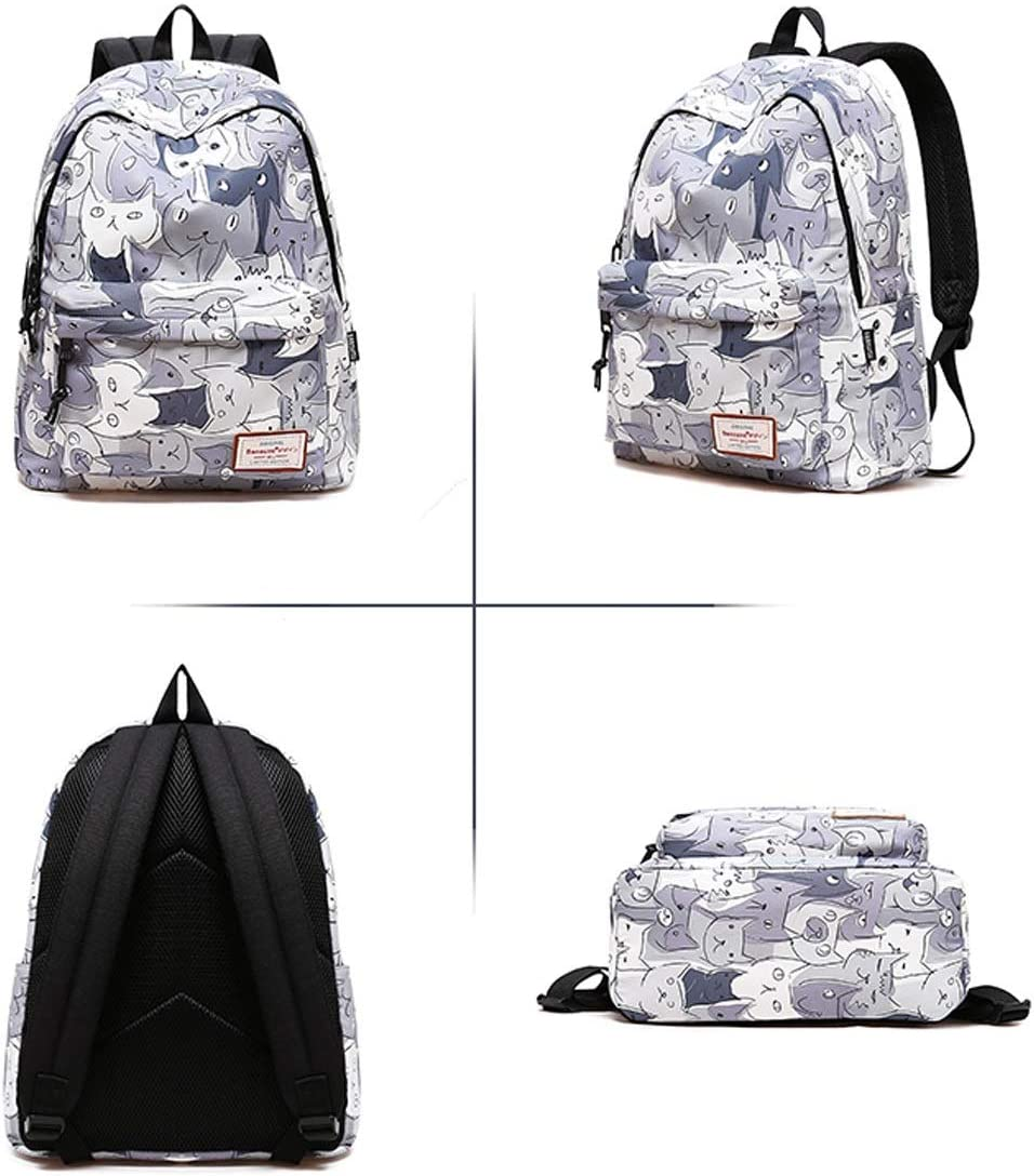 Design : 5 Casual Backpack Fashion Printed Hiking Backpack Outdoor Sports Waterproof and Wear Ultra Light Backpack Student Bag