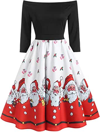 Vestido para Mujer Navidad Largos Elegantes Invierno Tallas ...