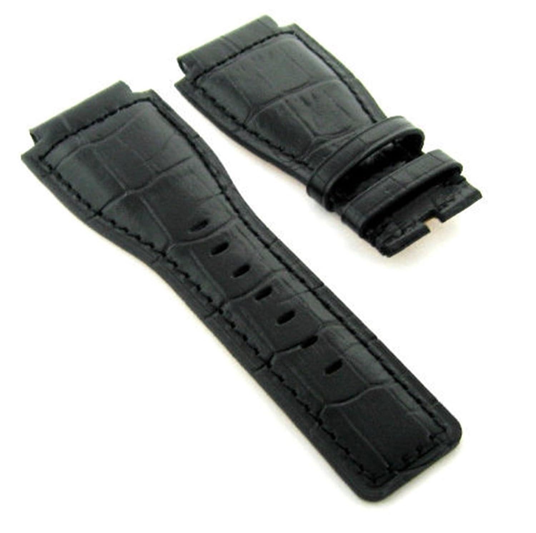 24 mmレザー腕時計バンドストラップfor 46 mm Bell & Ross br-01 – 92-srブラック# 7 a  B07D4NBRPT