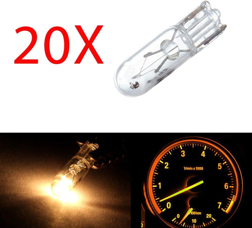 20x Universal T5 3SMD LED Bulb Instrument Panel Dash Gauge Interior Light Bulb