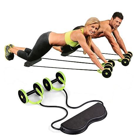 Sungmor Sport Core Double AB Power Wheel Roller Pull Rope Fitness Abdominal Exercises Equipment Coaster Waist