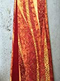 Clergy stole, flowing shades of red and orange!