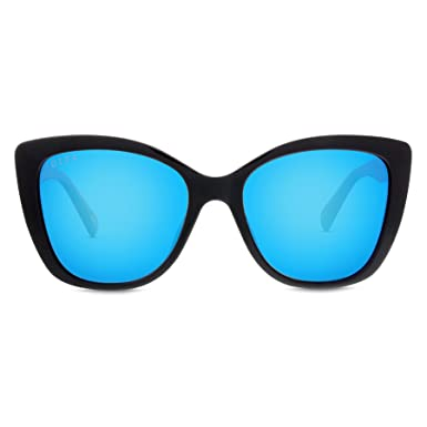 4f63bf1caa6 Image Unavailable. Image not available for. Color  DIFF Eyewear  Ruby - Designer  Cat Eye Sunglasses- 100% UVA UVB